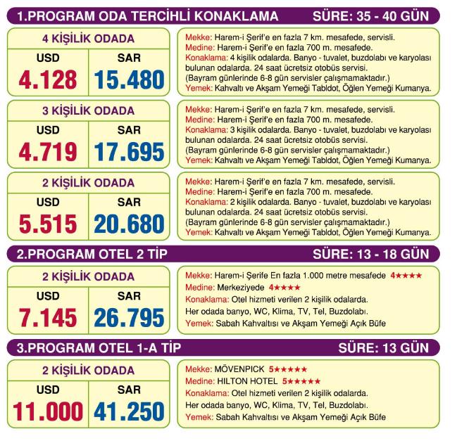 Hac programı 2018